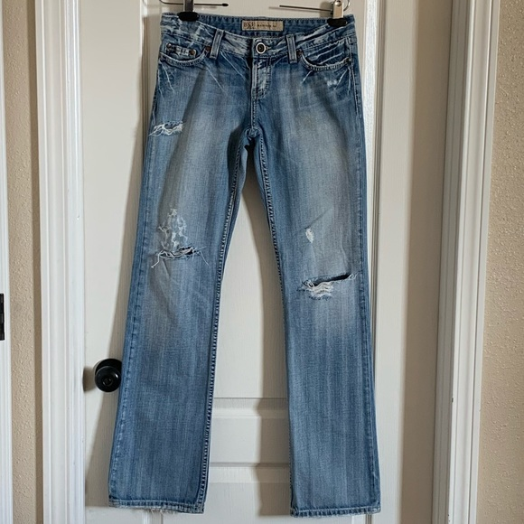 Bke Madison Distressed Bootcut Jeans